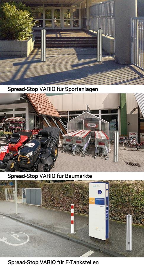Spread-Stop VARIO Hygienetower für Sportanlagen, Baumärkte und E-Tankstellen